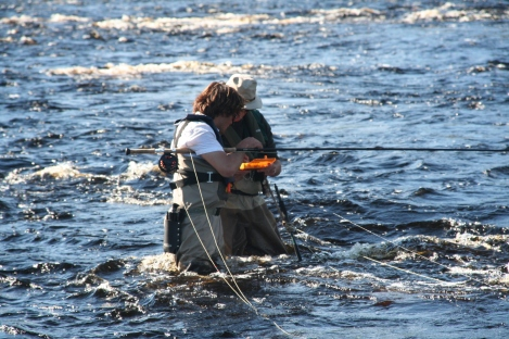 midstream fly change - a dollar for every dropped fly!