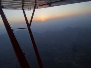 Sunrise over Maralel - after an hour of flying in the pre dawn